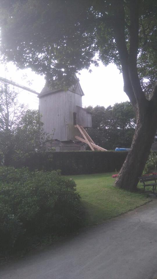 1ère phase travaux du moulin